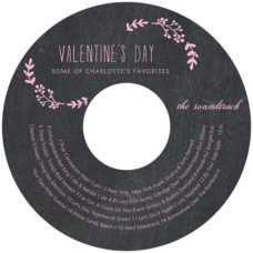 Chalkboard valentine's day CD/DVD labels