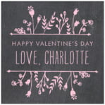 Chalkboard Square Label In Pale Pink