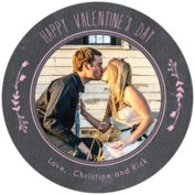Chalkboard Round Coaster In Pale Pink
