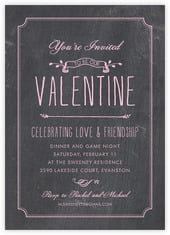 Chalkboard Card In Pale Pink