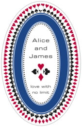Casino large oval hang tags