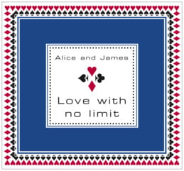 Casino large rectangle labels