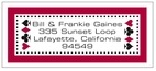 Casino designer address labels