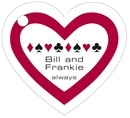 Casino heart hang tags