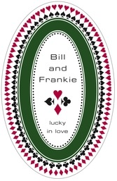 Casino tall oval labels