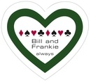 Casino heart labels