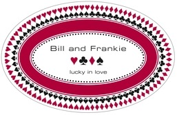 Casino large oval labels