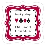 Casino fancy square labels