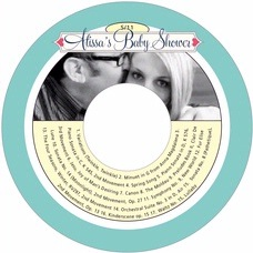 Cherish Hearts baby shower CD/DVD labels