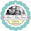 Cherish Hearts baby shower tags