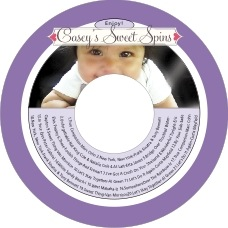 Cherish Hearts baby CD/DVD labels