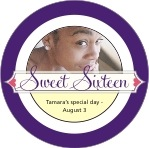 Cherish Hearts circle labels
