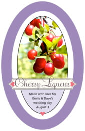 Cherish Hearts tall oval labels