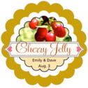 Cherish Hearts scallop labels