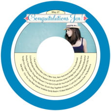 Cherish Hearts Cd Label In Blue