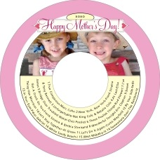 Cherish Hearts Cd Label In Pale Pink