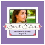 Cherish Hearts Square Label In Lilac