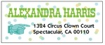Circus designer address labels