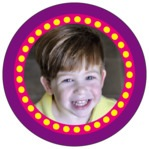 Circus circle photo labels