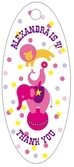 Circus small oval hang tags