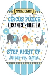 Circus tall oval labels