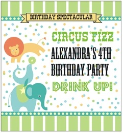 Circus large rectangular labels