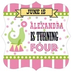 Circus fancy square labels