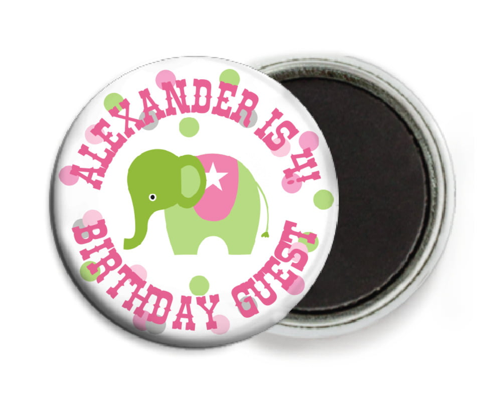 custom button magnets - pale pink - circus (set of 6)