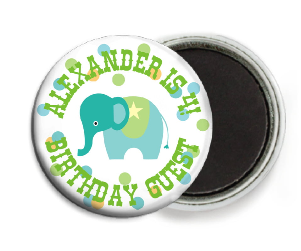 custom button magnets - pale green - circus (set of 6)