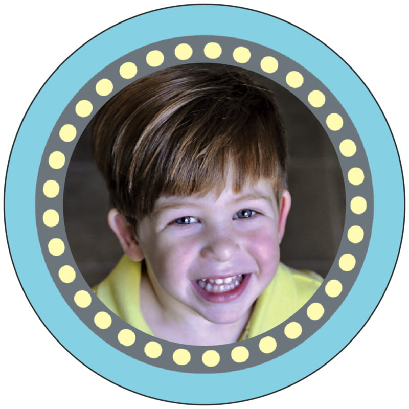 circle photo labels - sky - circus (set of 20)