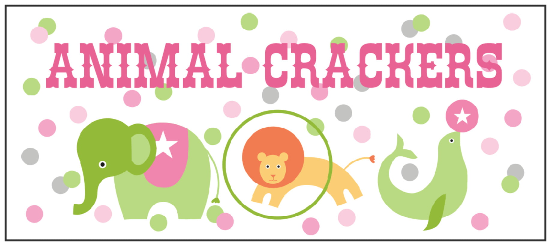 small rectangle food/craft labels - pale pink - circus (set of 24)
