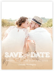 Country Charm Save The Date Card In Cappuccino
