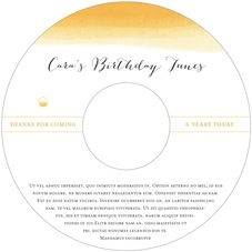 Color Wash kid/teen birthday CD/DVD labels
