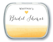 Color Wash bridal shower mint tins