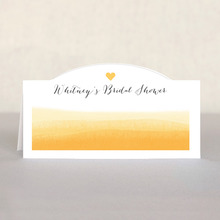 Color Wash Place Card In Sunshine
