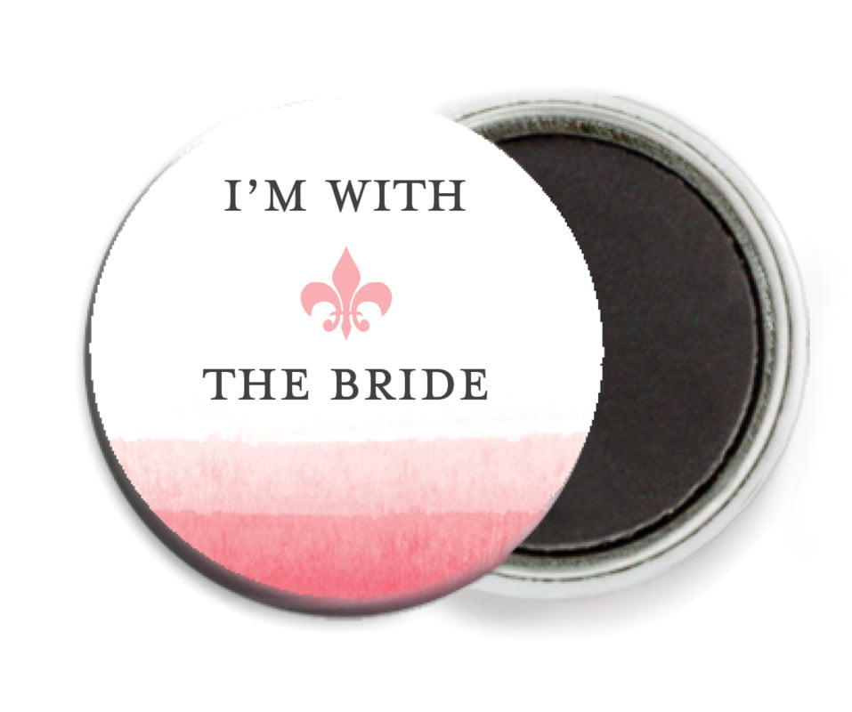 custom button magnets - pink - color wash (set of 6)