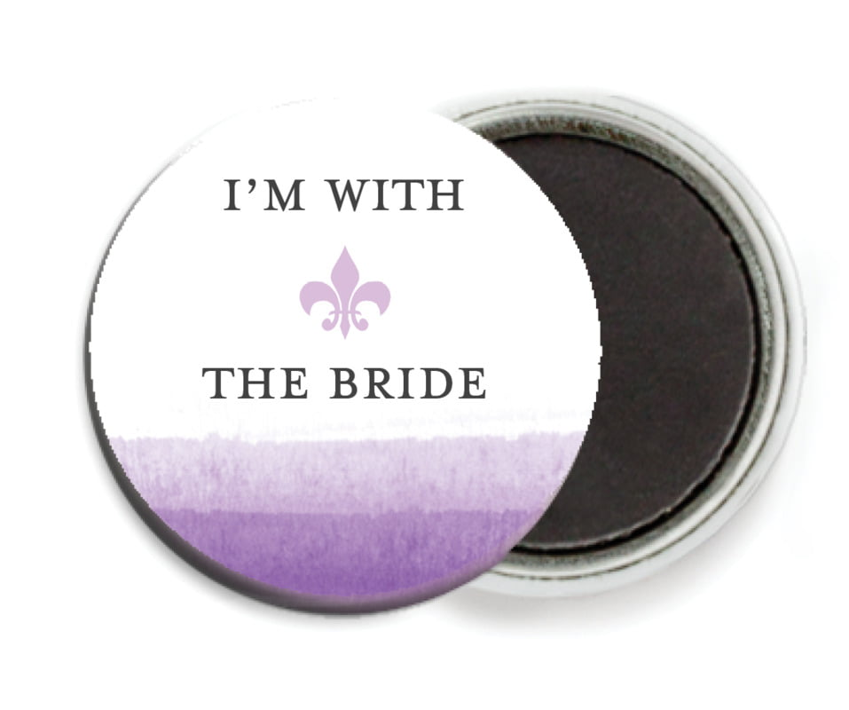 custom button magnets - lilac - color wash (set of 6)