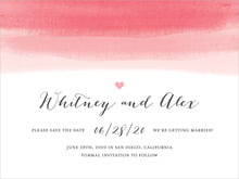 custom save-the-date cards - pink - color wash (set of 10)