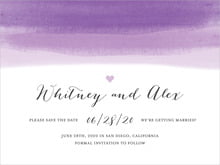 custom save-the-date cards - lilac - color wash (set of 10)