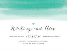 custom save-the-date cards - aruba - color wash (set of 10)