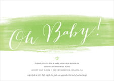 baby shower invitations - lime - color wash (set of 10)