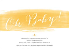 baby shower invitations - sunshine - color wash (set of 10)