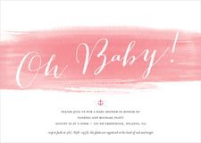 baby shower invitations - pink - color wash (set of 10)