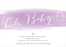 baby shower invitations - lilac - color wash (set of 10)