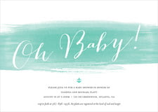 baby shower invitations - aruba - color wash (set of 10)