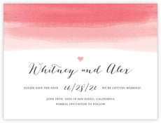Color Wash save the date cards