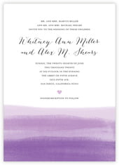 Color Wash invitations
