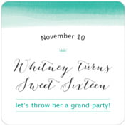Color Wash sweet sixteen coasters
