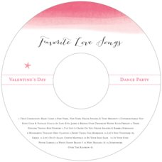Color Wash valentine's day CD/DVD labels