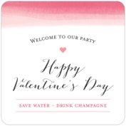 Color Wash valentine's day coasters